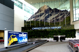 クライストチャーチ国際空港のロビー