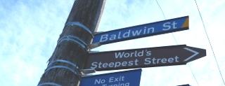 NZのボルドウィン・ストリートの標識