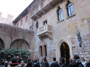 シェイクスピアの「ロミオとジュリエット」の舞台となったといわれるジュリエットの家