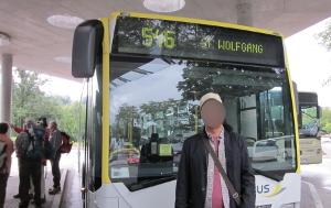 ザルツカンマーグート地方を走るバス