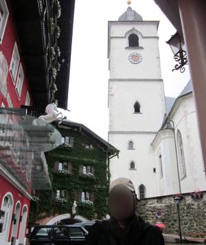 ザンクト・ヴォルフガングの町中のようす