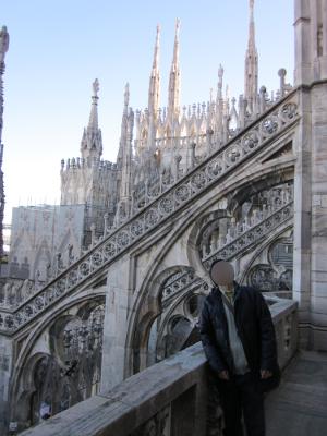 ミラノのドゥオモの屋上