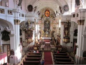 デュルンシュタインの教会の内部