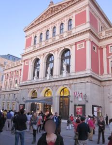 ウィーン楽友協会の正面玄関