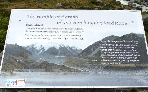 岩山が崩れる表示