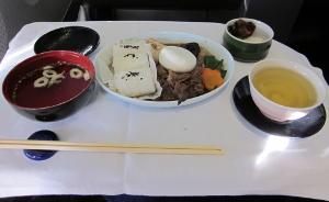 ルフトハンザ航空のビジネスクラスの機内食