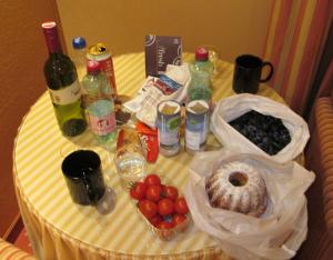 ホテルでの朝食のようす