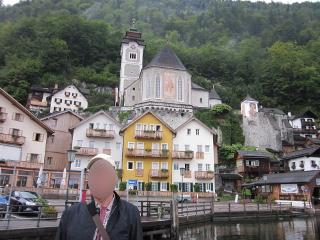 世界遺産の町ハルシュタットの船着場周辺