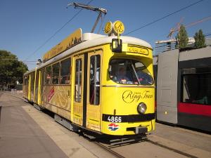 観光用の路面電車