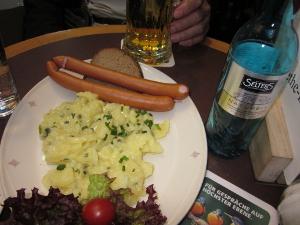 フランクフルト空港で食べたランチの写真