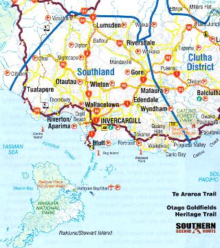 サウスランド地方の地図