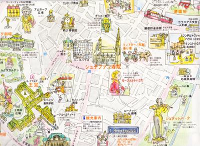 シュテファン寺院の周辺マップ