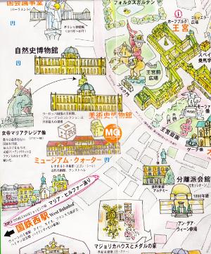 ホーフブルク王宮近くの地図