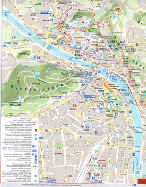 ザルツブルク市の全体マップ