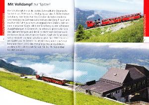 シャーフベルク山の登山鉄道のパンフレット
