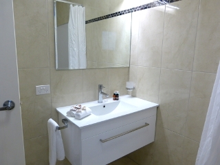 アオラキ・コート・モーテルの洗面所