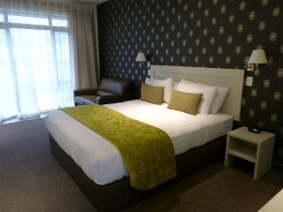 アオラキ・コート・モーテルのベッド