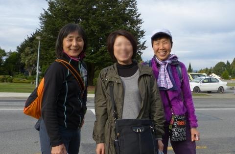 神戸の女性2人といっしょに