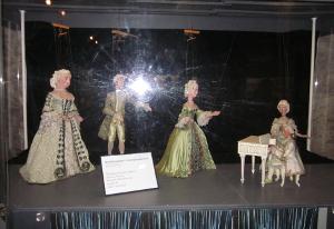 ホーエンザルツブルク城塞の中にある操り人形館の中の陳列の一部