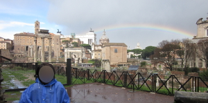 フォロ・ロマーノから見た虹