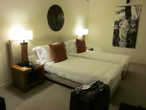 ホテル-ラディソンBLUのベッドルーム