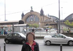 カイザー通りから見たフランクフルト中央駅