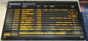 トレインイタリア(鉄道)の電光掲示板