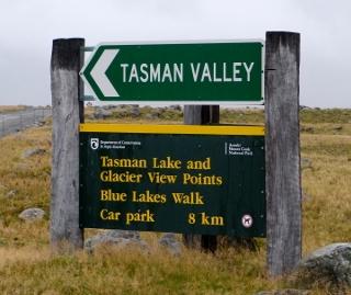 タズマンバレーの標識