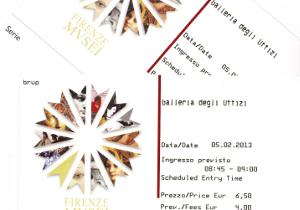 ウフィツィ美術館のチケット