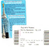 ドゥオモ(大聖堂)の屋上に上がれるチケット