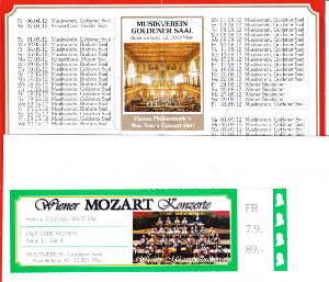 楽友協会のモーツァルトコンサートのチケット