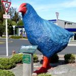 ティ・アナウの町の中央にある鳥の像