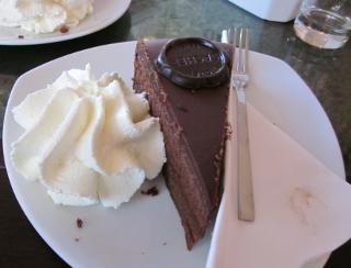 カフェ・ザッハーのトルテのケーキ