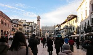 ヴェローナの中心の風景
