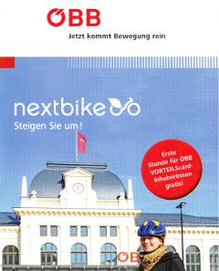 オーストリアの自転車を載せることができる列車の案内
