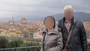 ミケランジェロ広場からフィレンツェ市内を見渡す