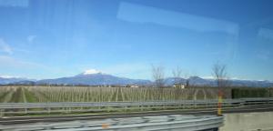 イタリア側から見たアルプス山脈