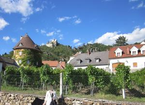 デュルンシュタインの村はずれの風景写真