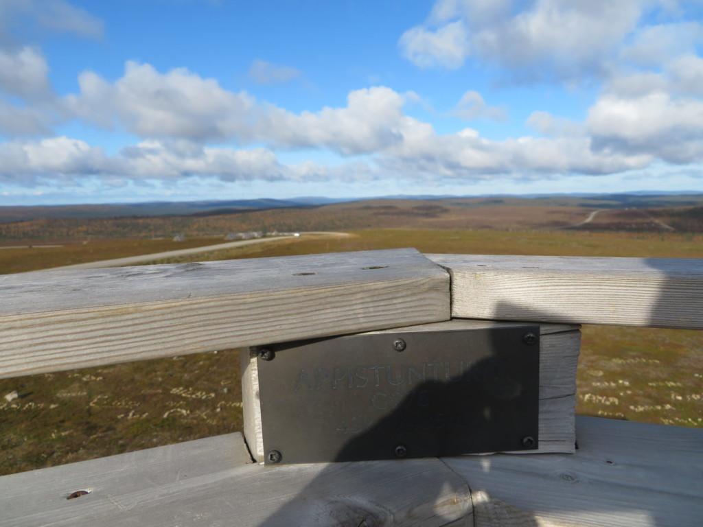 高台からロシア方向を見る