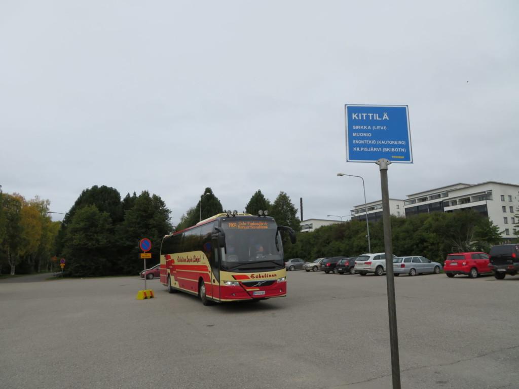 バスと行先看板