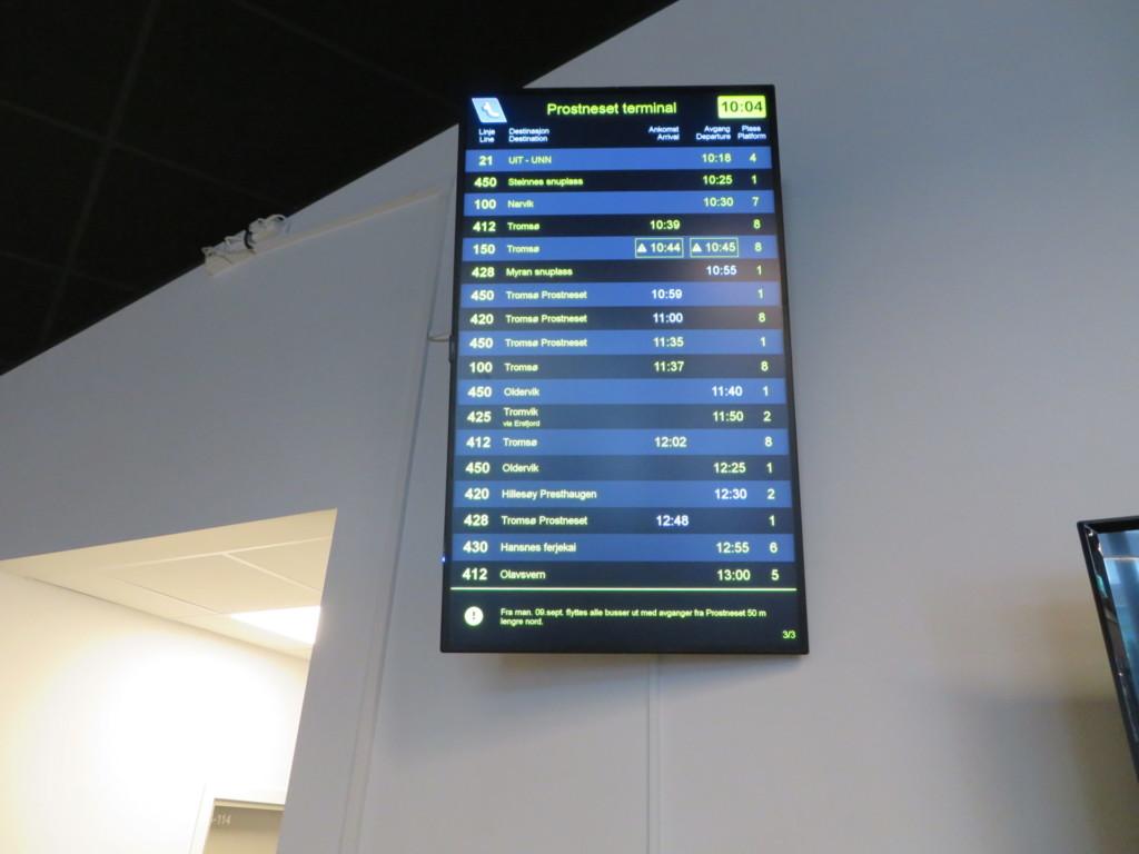 バス時刻電光掲示板