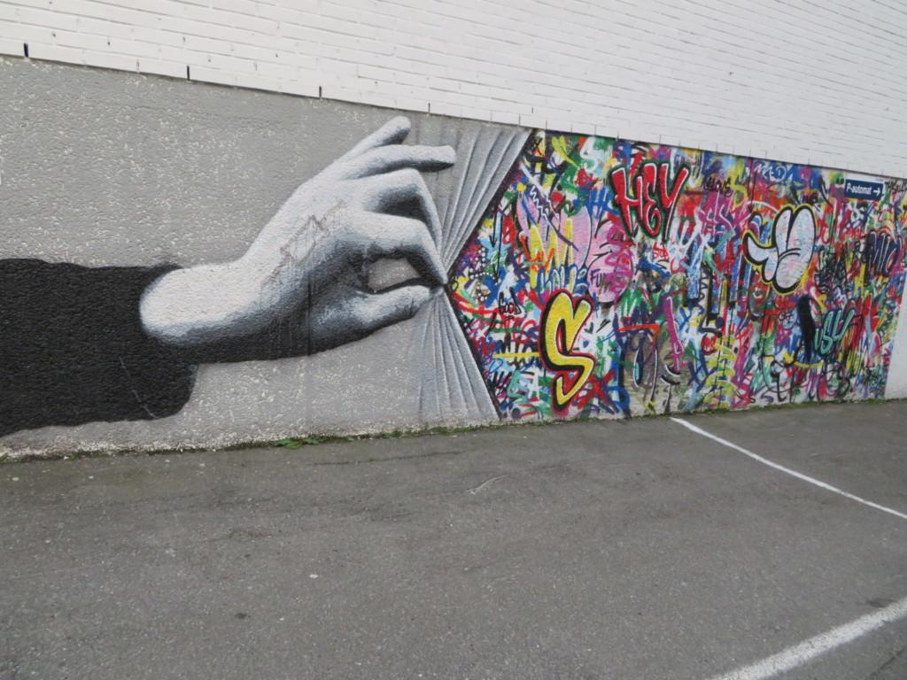 カラフルな壁