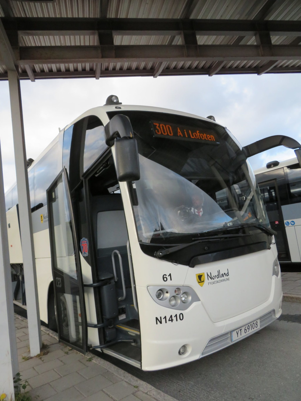 ローフォーテン行きのバス